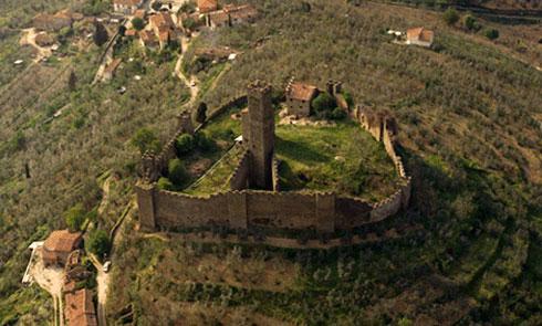 Toscana, panorama delle colline