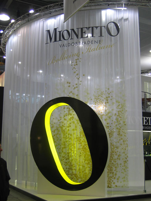 Stand Mionetto in fiera
