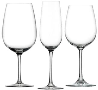 Bicchieri degustazione vino rosso