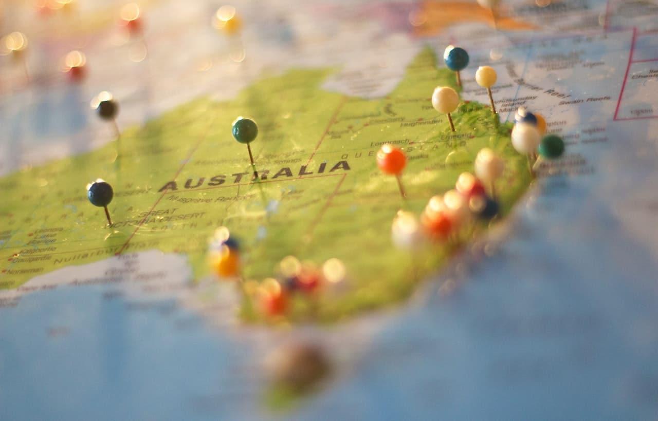 Sito Web che risale Australia