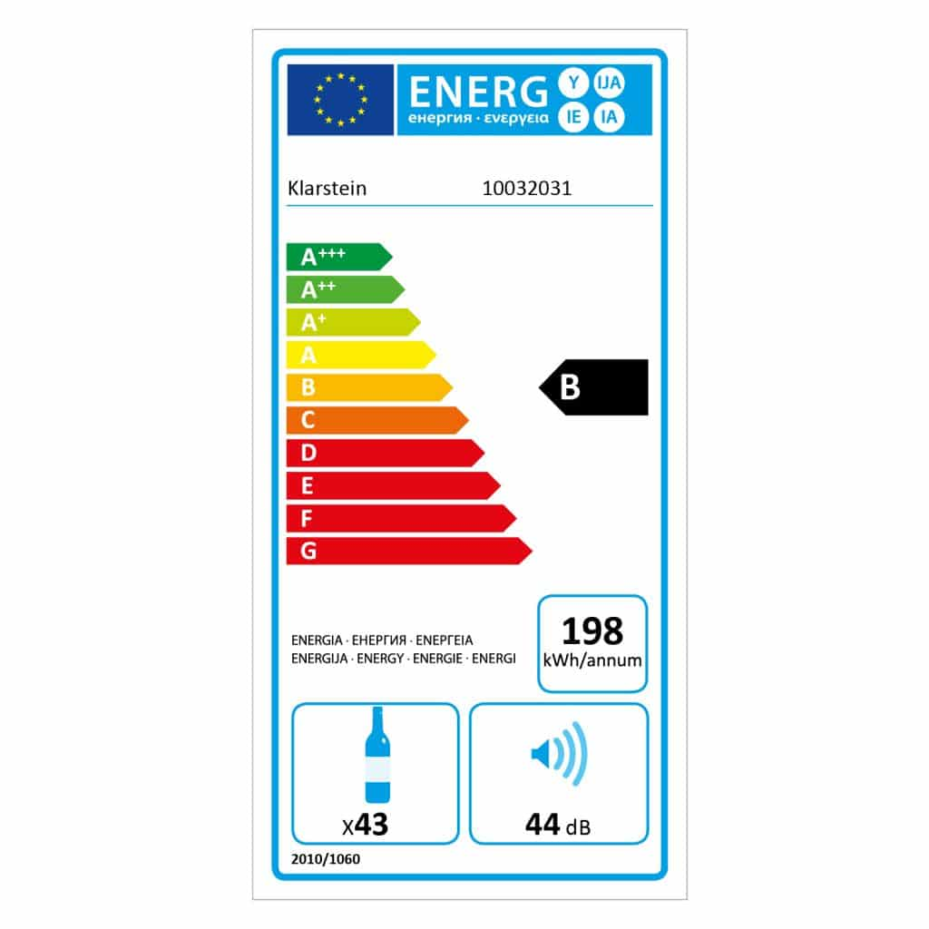 Klarstein Vinovilla Duo43 consumo energetico classe B